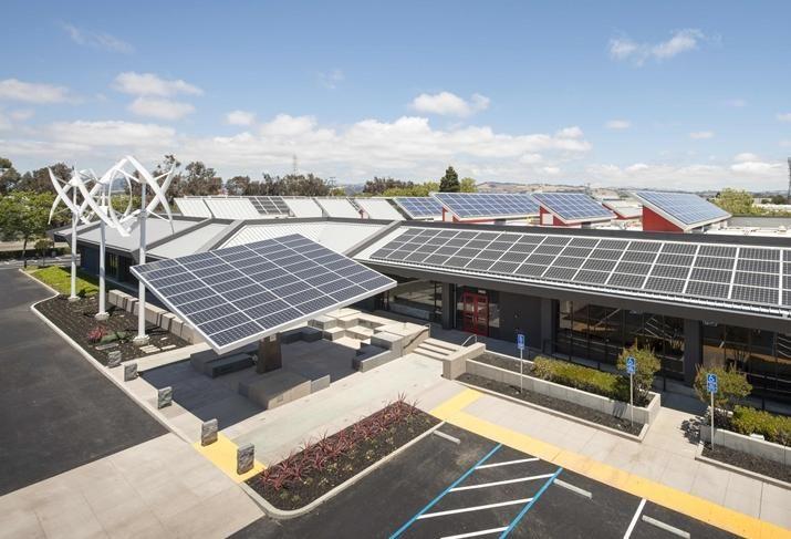 MUST be cited as IBEW and NECA's Zero Net Energy Center in San Leandro. credit: Chad Ziemendorf
