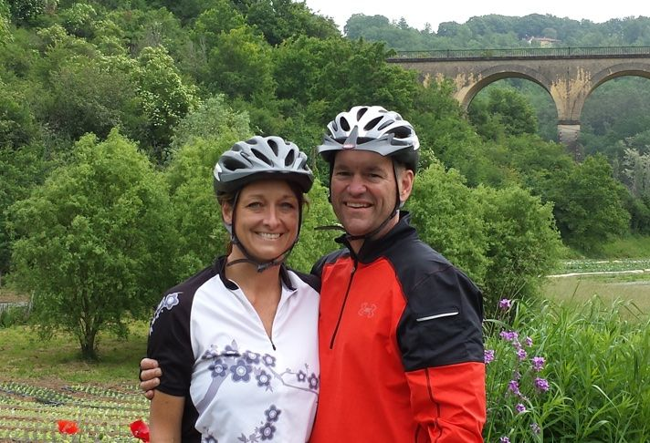 JLL EVP David Cantwell and wife Teya on vacation in France
