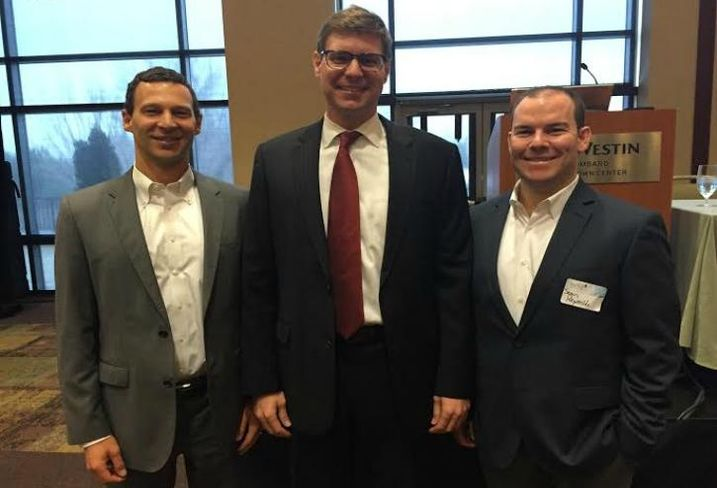 JLL research director Christian Beaudoin, Senior Vice President Todd Schaefer and Managing Director Sean Reynolds