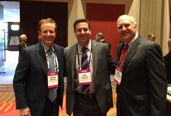 Brennan Investment's Michael Brennan, First Midwest Bank's Rob Treleven and Brennan Investment's Michael O'Halloran