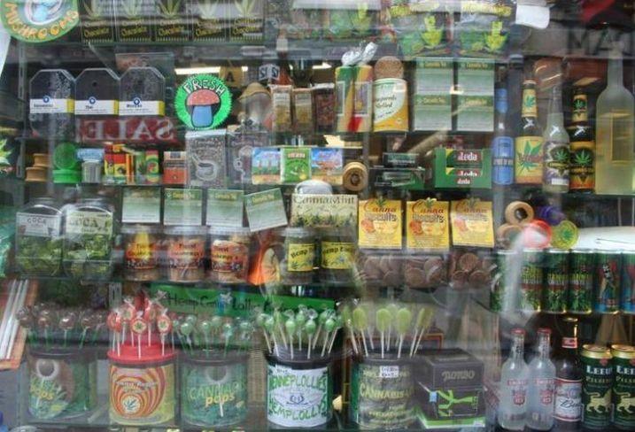 A medical marijuana dispensary storefront