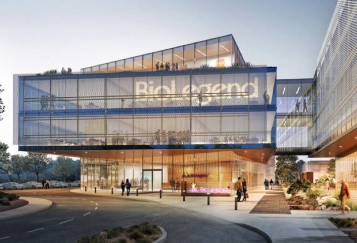 Conceptual rendering of Biolegend's new headquarters.