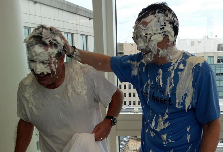 O'Melveny Pies DC MP In The Face (For a Good Cause)