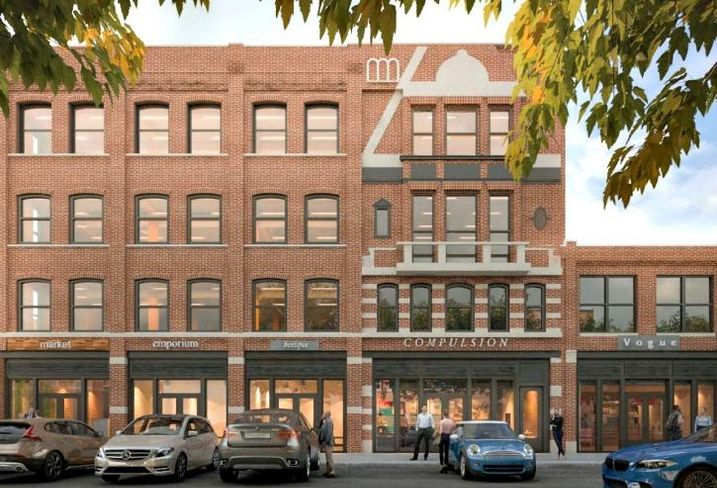 A rendering of Tucker Development and Acadia Realty's upcoming 900 West development, Chicago.