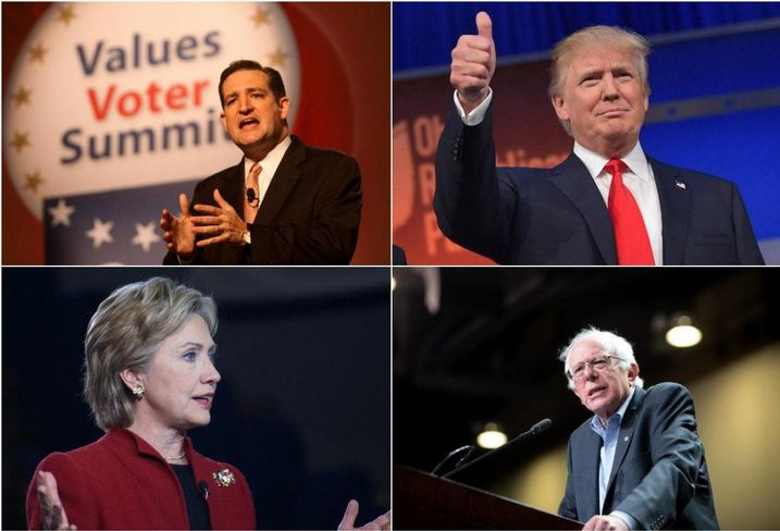 Collage of Presidential Candidates
