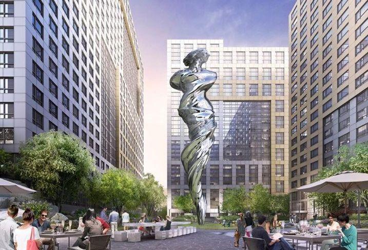 Rendering of Venus sculpture at Trinity Properties' Trinity Place in San Francisco