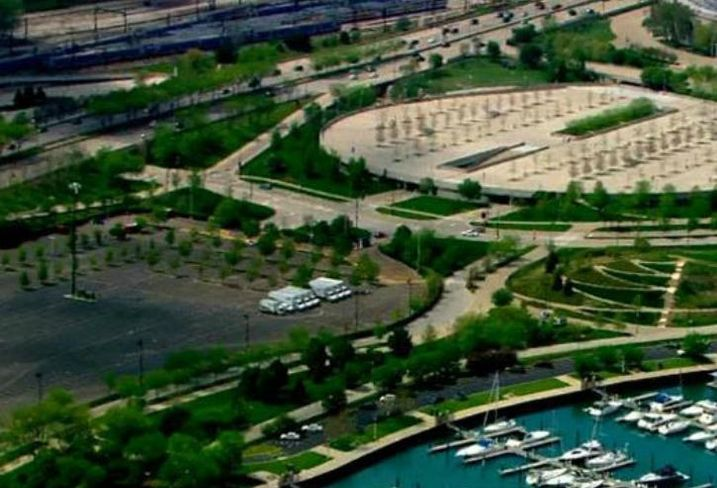 The proposed site of the Lucas Museum of Narrative Art in Chicago