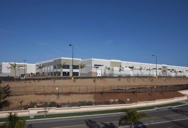 Pictured is Fedex's new 312k SF distribution facility in Oceanside.