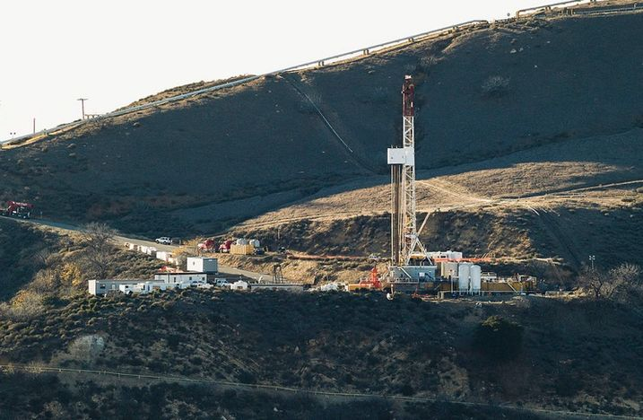 Equipment and machinery above Southern California Gas  Co's natural gas well known as SS25 near Porter Ranch, which is part of the Aliso Canyon facility, where a leak was discovered October 23, 2015.