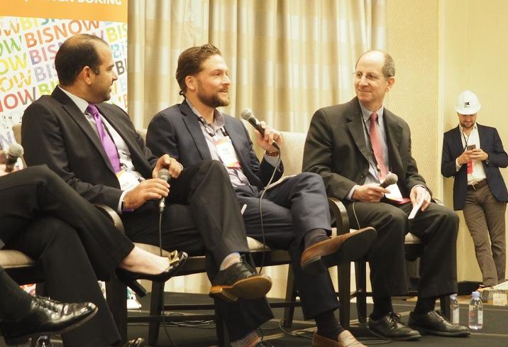 DPR's Amir Nekoumand, Johns Hopkins Sibley Hospital's Nick Dawson and architect Adrian Hagerty