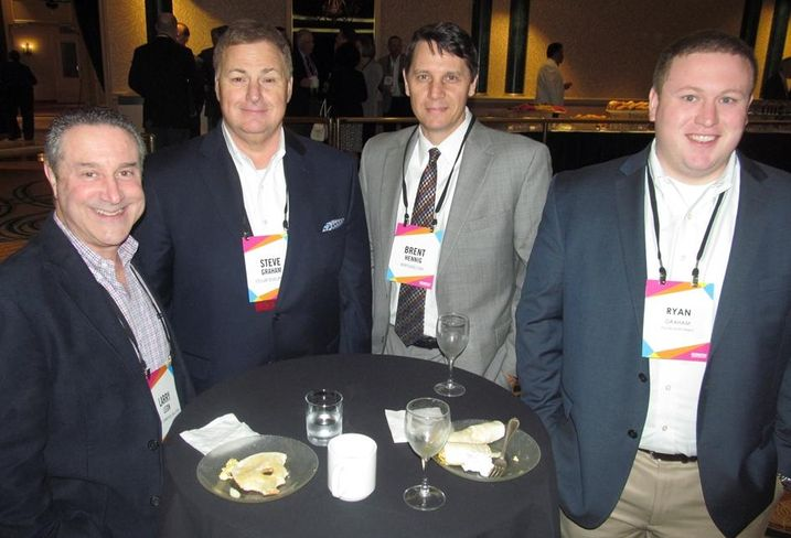 Larry Leon, Stellar Development's Steve Graham, Brent Hennig, Ryan Graham at Bisnow DFW mixed-use event May '16