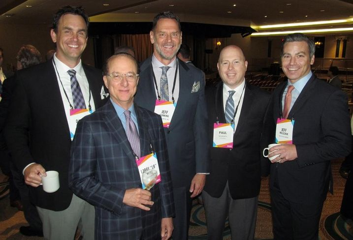 CallisonRTKL's Dallas Branch, LB Byars, Jeff Gunning and Paul Wilmarth with RED Development's Jeff Moloznik at Bisnow's Dallas mixed-use event May '16