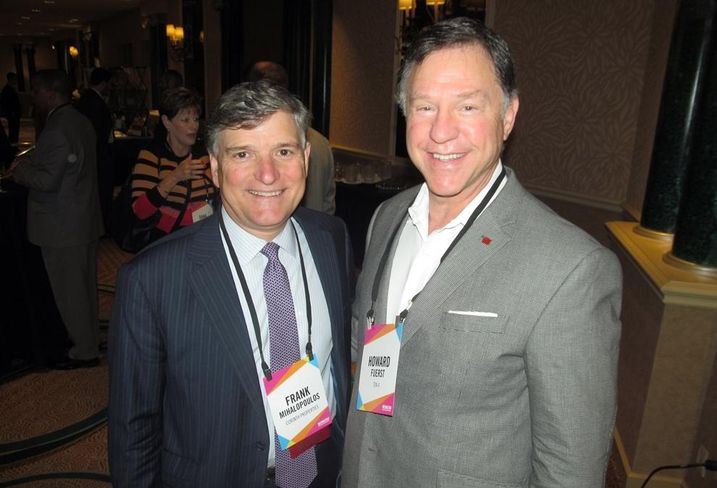 Corinth Properties' Frank Mihalopoulos and Howard Fuerst at Bisnow's DFW mixed-use event May '16
