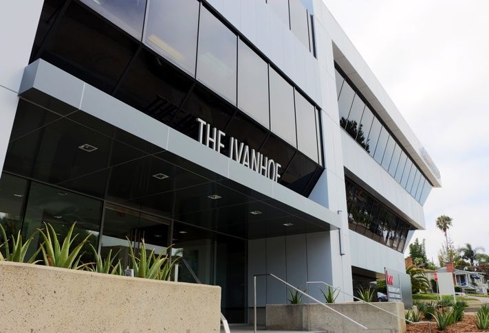 The Ivanhoe office building in La Jolla Village.