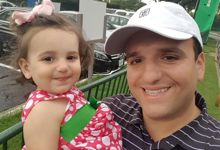 VCC Construction SVP Derek Alley with his daughter at the Colonial