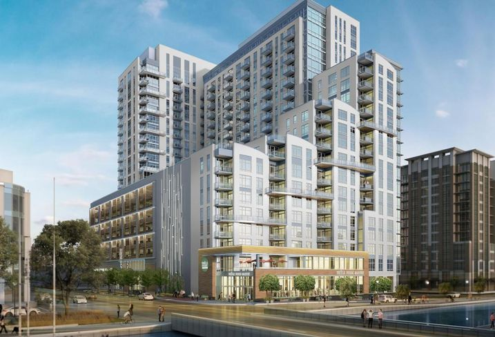 Rendering of the Whole Foods project in Baltimore's Harbor East