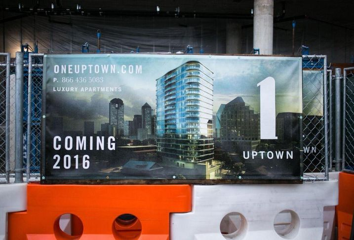 One Uptown tower tops out in Dallas