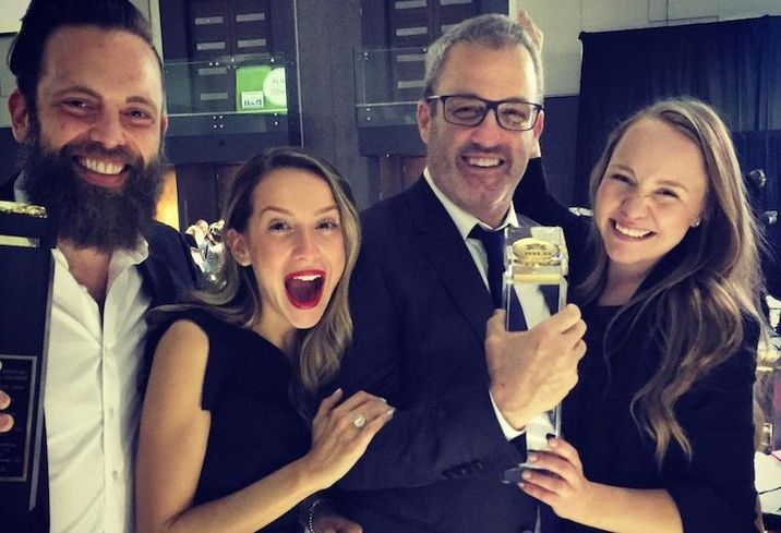 Zinc Developments' Ken Zuckerman, PSR Brokerage's Graham Scully, Zinc's Joella Sacks, and PSR's Alicia Milks at the BILD awards.