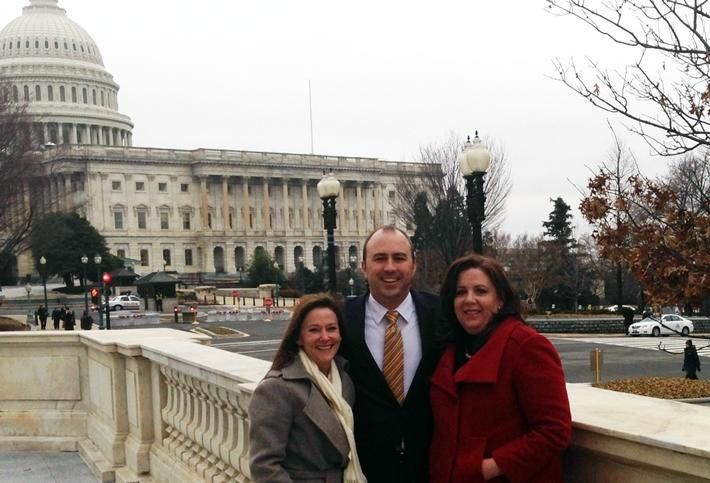 Mary Stanton, Brett Williams and Tammy Betancourt from Houston BOMA in DC