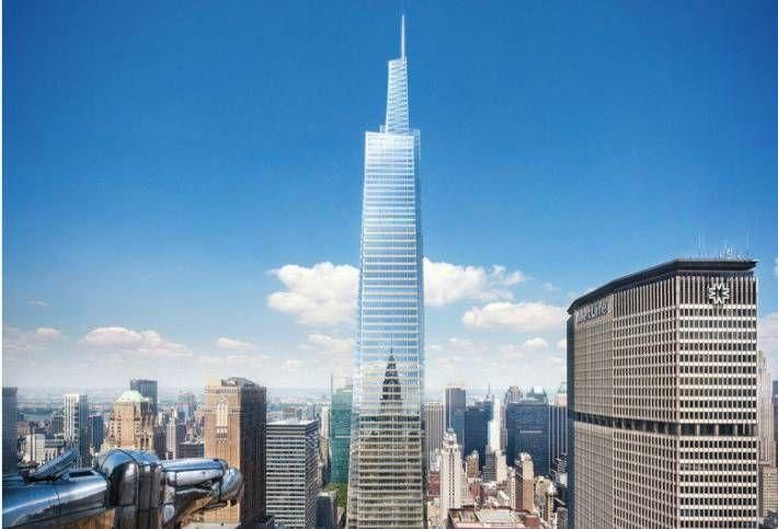 A rendering of SL Green Realty's planned One Vanderbilt tower.