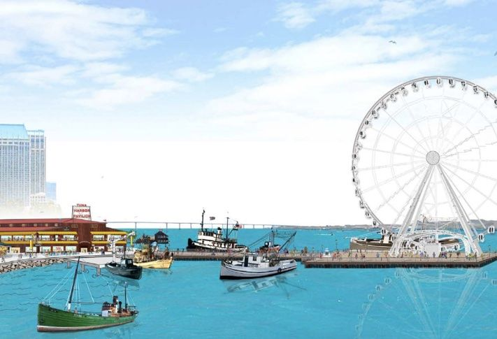 Pictured is the Tuna Pavillion and Pier proposed by a JV of Great Western Pacific and Santa Monica Seafood for the Seaport Village redeveopment.