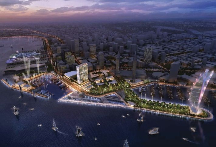 A JV of Manchester Financial Group and Dealy Development have proposed Celebration Place, a $700M, 718k SF development designed by HKS global architects and Snøhetta and KTU&A landscape architect.