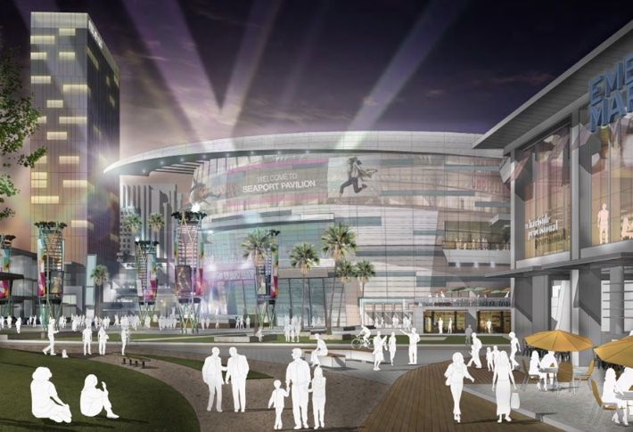 OliverMcMillan's $1.4B, 2.4M SF includes a 18,000-seat arena.