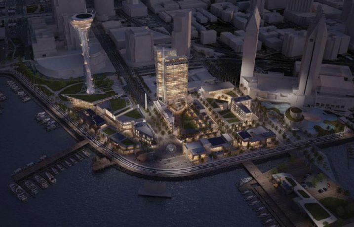 A JV of Gafcon and Protea Waterfront Hotel Development has proposed Seaport San Diego, a $1B, 1.3M SF development.