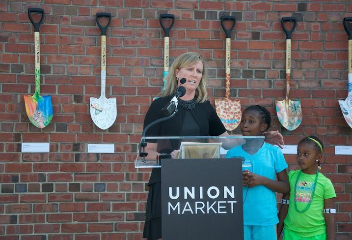 Jodie McLean Union Market groundbreaking