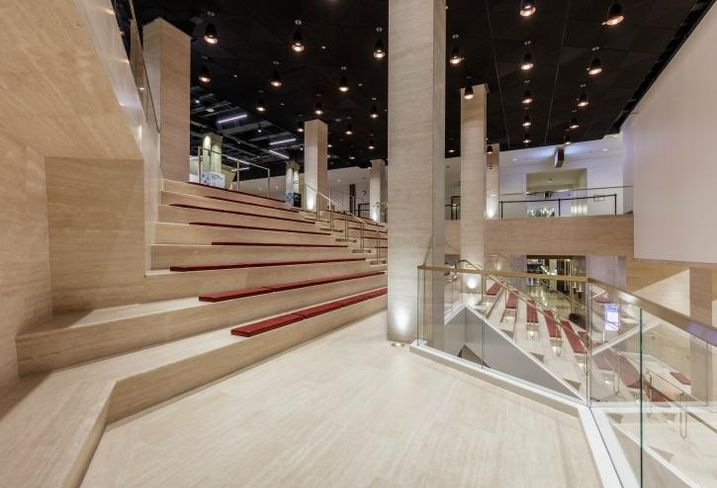 The Grand Stair at Merchandise Mart is the centerpiece of the building's $40M capital improvement program