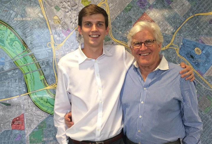 CBRE's Jack Gosnell and his son, Cameron