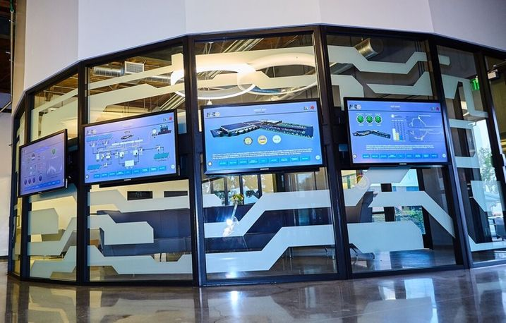 This dashboard allows energy usage to be monitored in real-time.