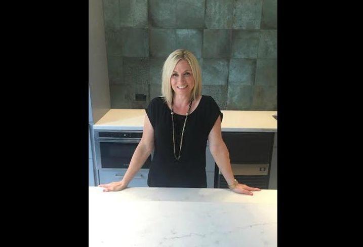 JLL EVP Nikki Kern, shown in the tenant lounge inside 222 South Riverside Plaza