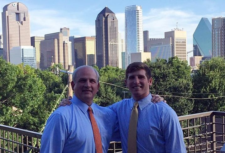 JLL's Caleb McCoy grew up going on building walks with his dad, Younger Partners' Byron McCoy.