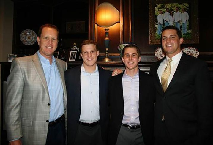 With the career Holt Lunsford, founder and CEO of Holt Lunsford Commercial, has had, it's no wonder all three of his sons, Holden(above, second from left), Hutton (right) and Hayden (second from right), are following in his large footsteps.