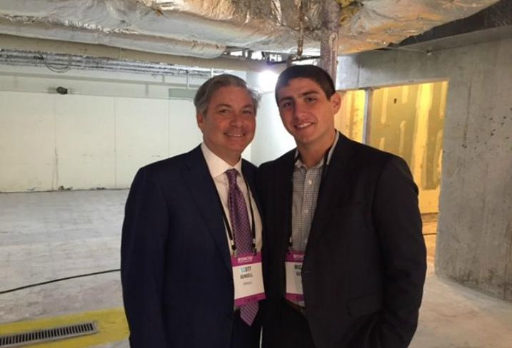 Terraco CEO President/CEO Scott Gendell and his son, CBRE associate Michael Gendell