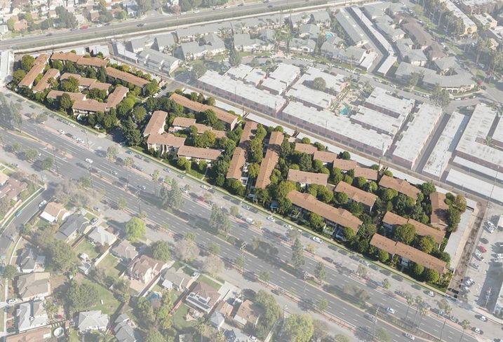 Patio Gardens Aerial, LA