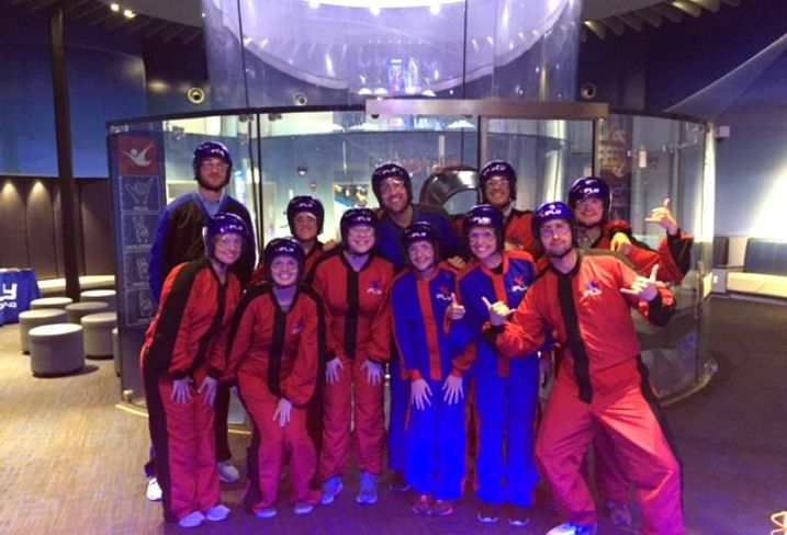 The Luxury Living Chicago Realty crew celebrated meeting their first half sales goals early with some indoor skydiving at iFly.