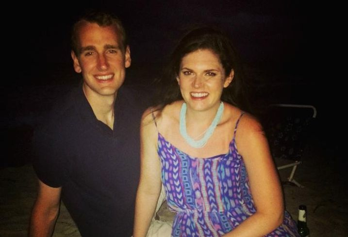 JLL's Keara Fanning with fiance, Rick.
