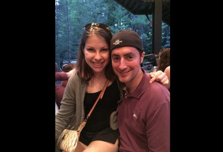 JLL tenant rep Deanna Becker with fiance, Jordan.