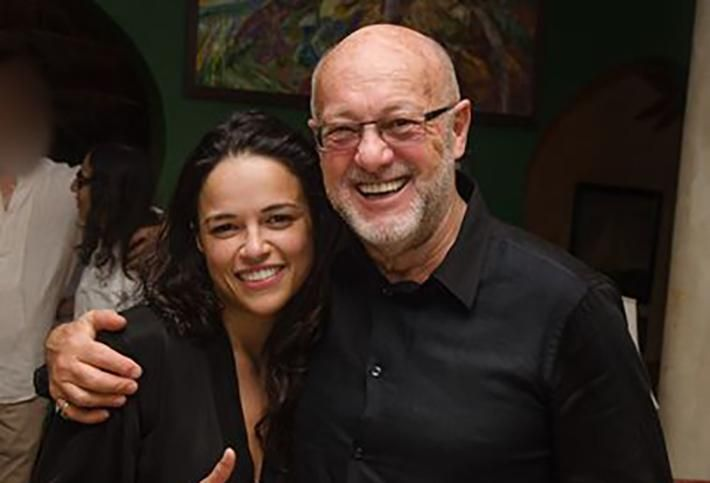 Peter de Sevary and actress Michelle Rodriguez