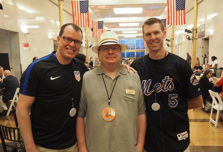 Ed Apsey, George Rose and Ian Dowling at the Kennedy Center July 4th party