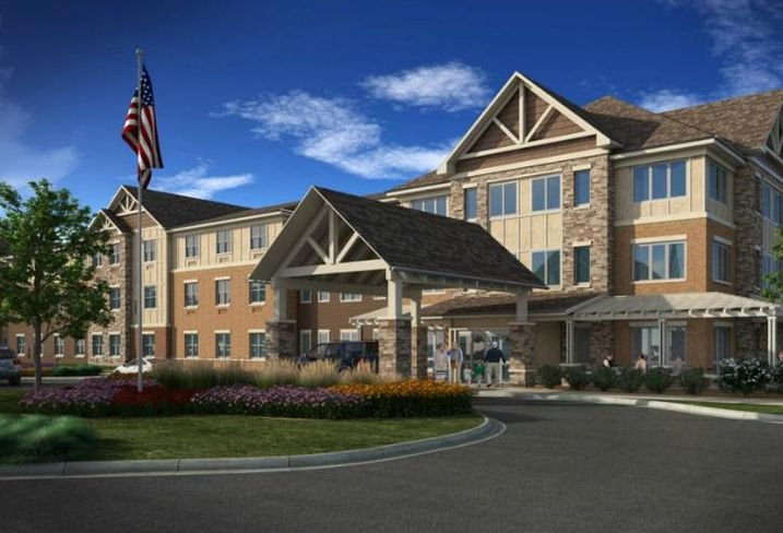 A rendering of CA Ventures' upcoming senior housing facility in Grayslake, Ill.