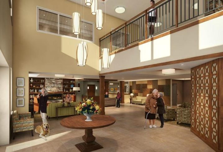 An interior rendering of CA Senior Ventures upcoming senior living facility in Grayslake, IL