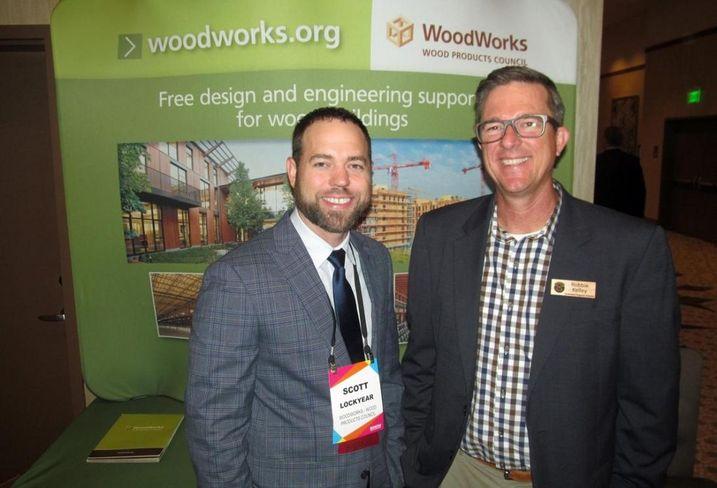 WoodWorks' Scott Lockyear and Robbie Kelley at Bisnow Austin multifamily event June 2016