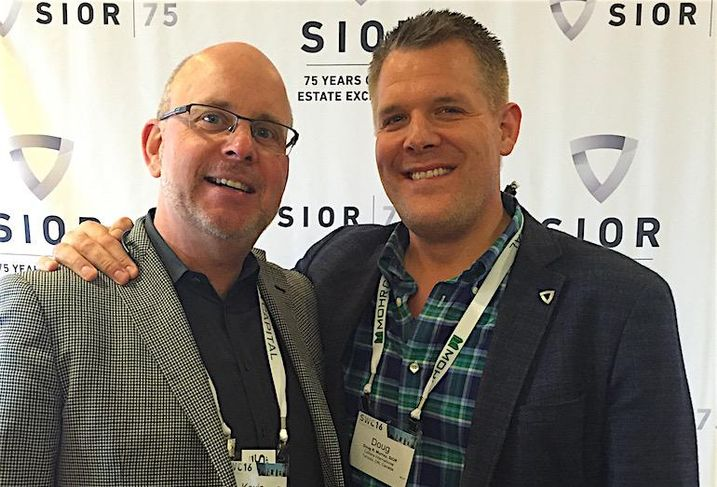 Avison Young's Kevin Beaudry and Doug Murray at the SIOR Spring World Conference in San Diego May 2016.