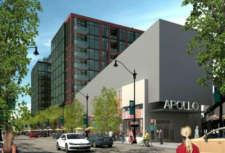 A rendering of the Elevated Lincoln Park development on Lincoln Avenue in Lincoln Park, Chicago