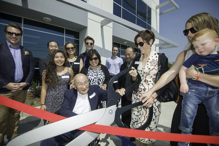 Ribbon cutting in LA