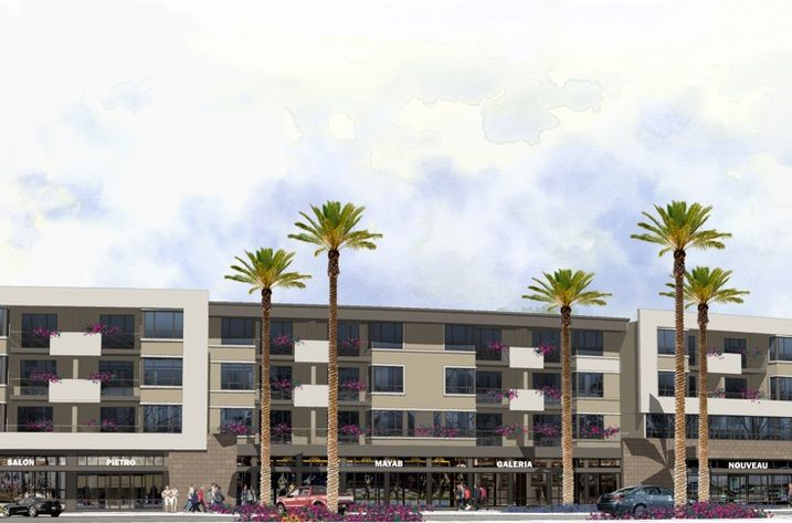 The new Village North mixed-use, affordable apartment project will have medical office space on the ground level.