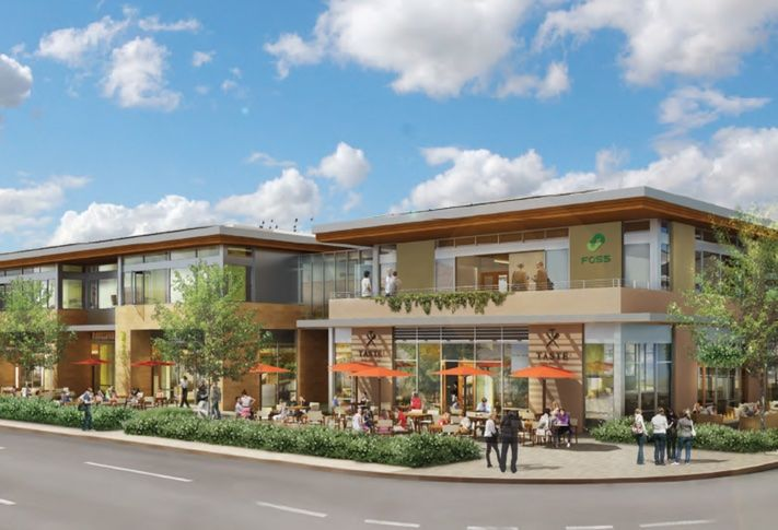 Merge Carmel Valley, a new retail center at 5550 Carmel Mountain Rd, has medical office space on the second level.